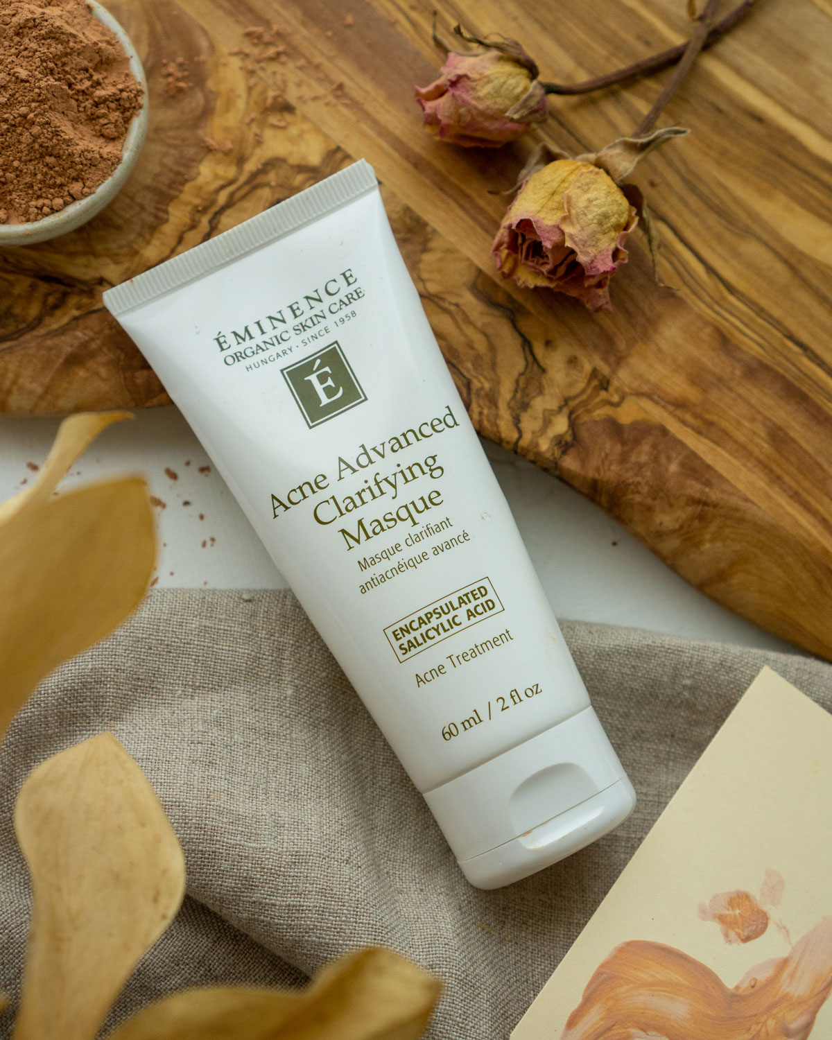 Acne advanced clarifying masque is a great choice for an at-home facial