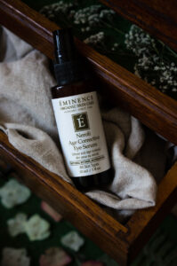 Eminence Organics' Neroli Age Corrective Eye Serum features their Natural Retinol Alternative