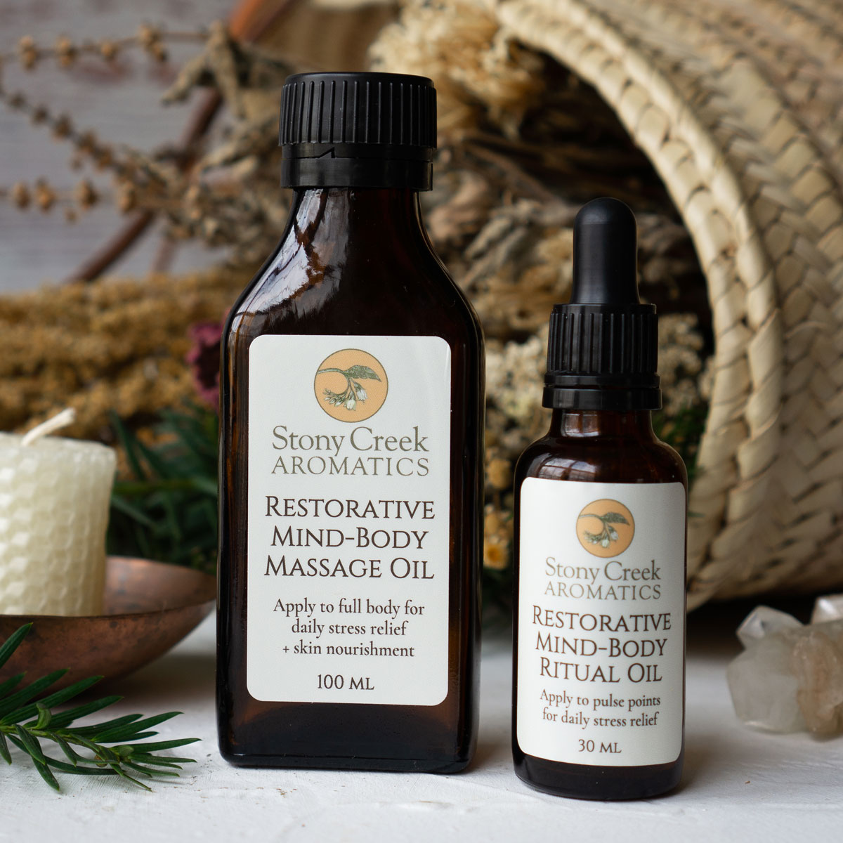 Essential Oils for Stress & Our Restorative Mind-Body Blends